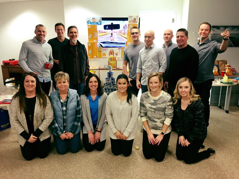 A companywide competition that supported People's City Mission and Cedars resulted in structures made from diaper and canned food donations and a Souper Bowl tailgate. One team won both events and the leadership of all of our social responsibility pillars judged.