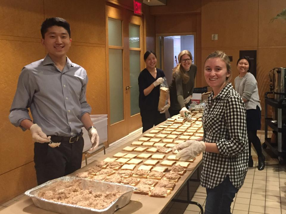Sandwich-making Volunteering