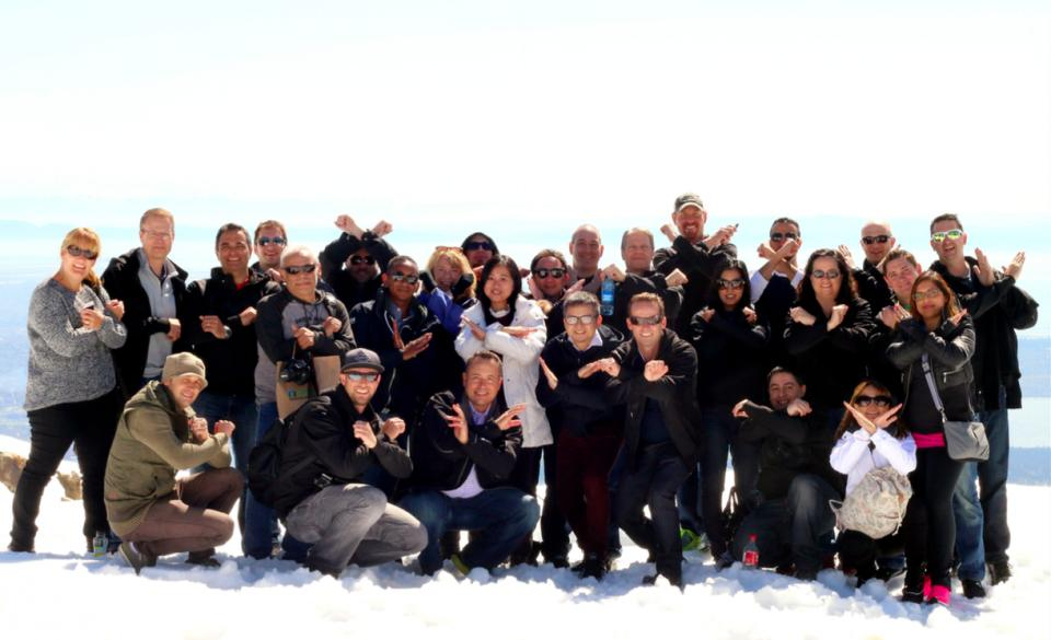 xPerts enjoying an Offsite Fun Day at Grouse Mountain