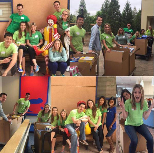 Silicon Valley office helping out at the Ronald McDonald House.