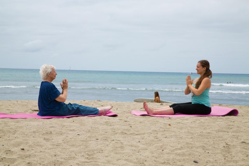 Yoga on the beach. Limitless opportunities for associates to engage at work