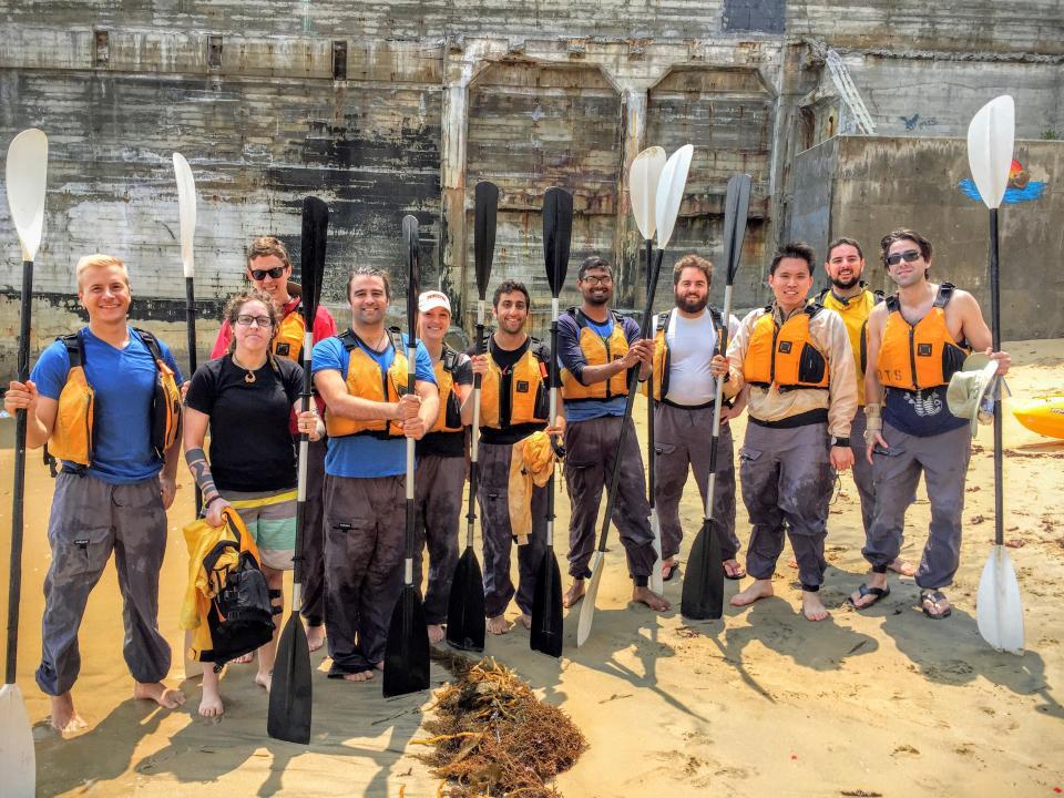 Forward employees kayaking in Dillon Beach