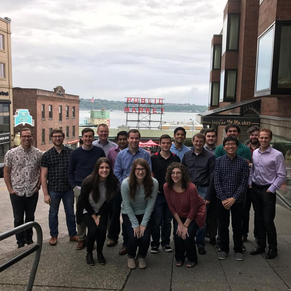A group of fins from across the company came together for small team leadership school in Seattle