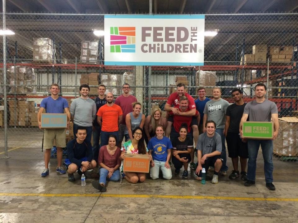 OK Team volunteering with Feed the Children