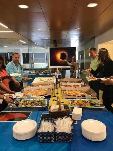 The solar eclipse in August was thrilling. Our celebration included moon pies, Mars bars, Milky Ways and Starbursts.