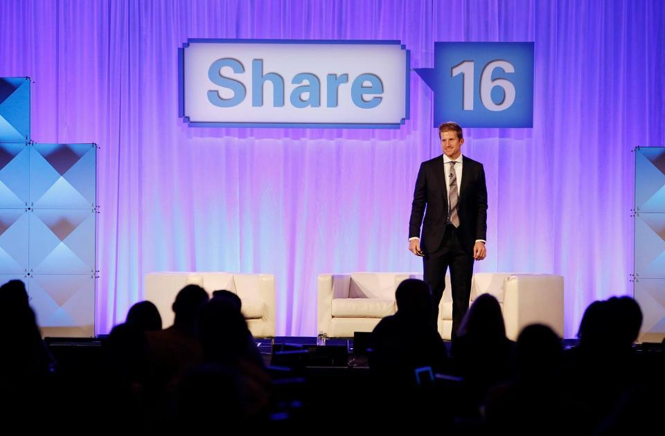 CEO Chris Bennett speaking at Share 16