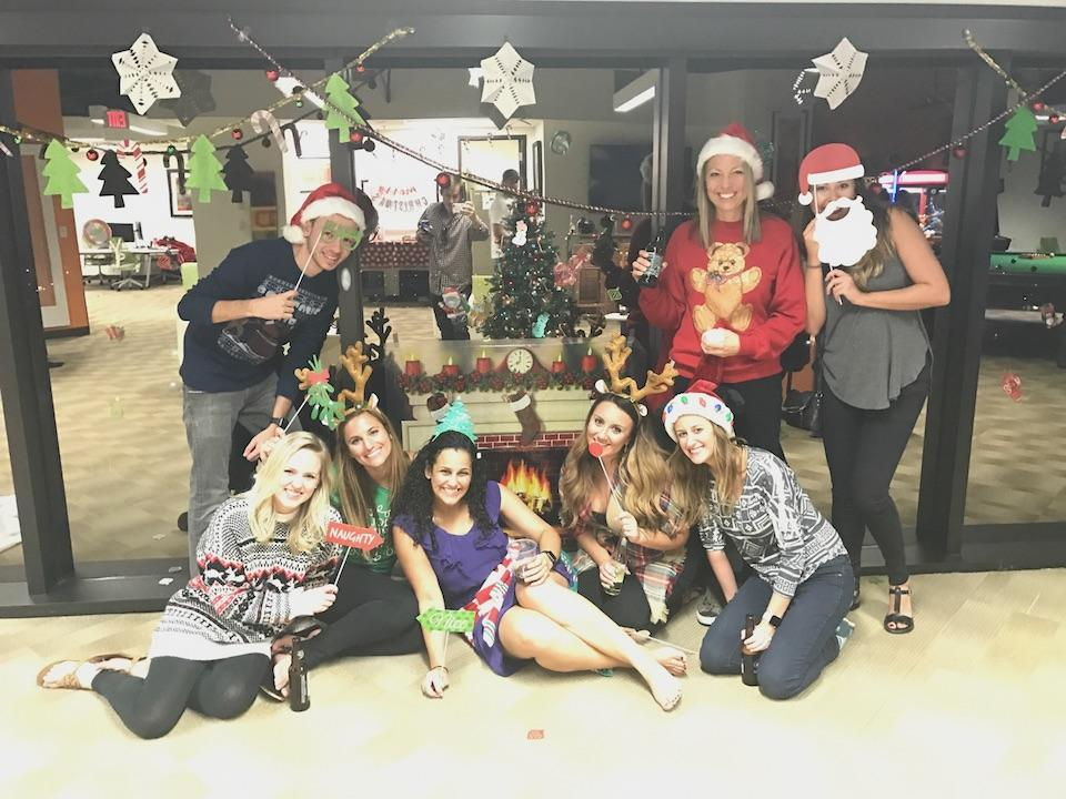 Christmas came early at Squaremouth in 2016. Employees decorated the office and held a Christmas party in November to surprise a colleague.