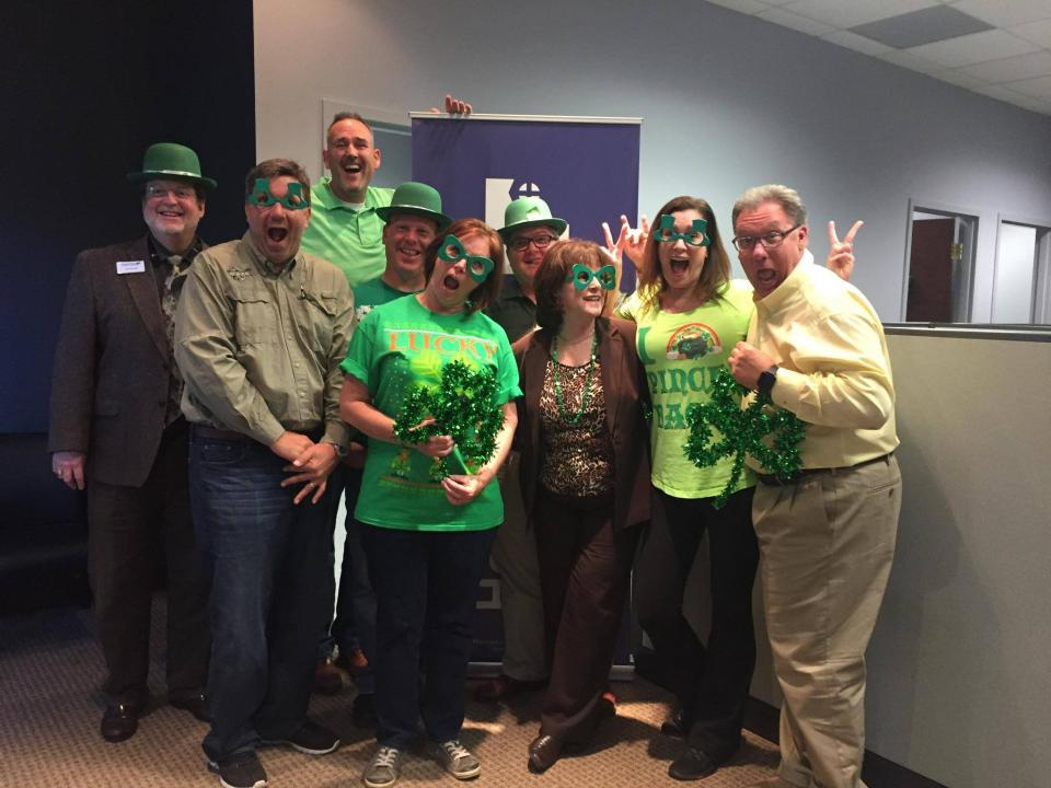 """Jacksonville Branch decked out in green for the St. Patrick's Day """"green"""" contest"""