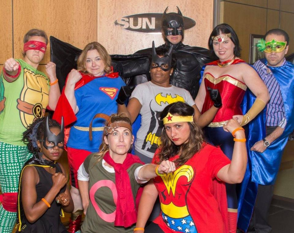 Sun's super heroes spent the day with patients at the Children's Hospital of Michigan