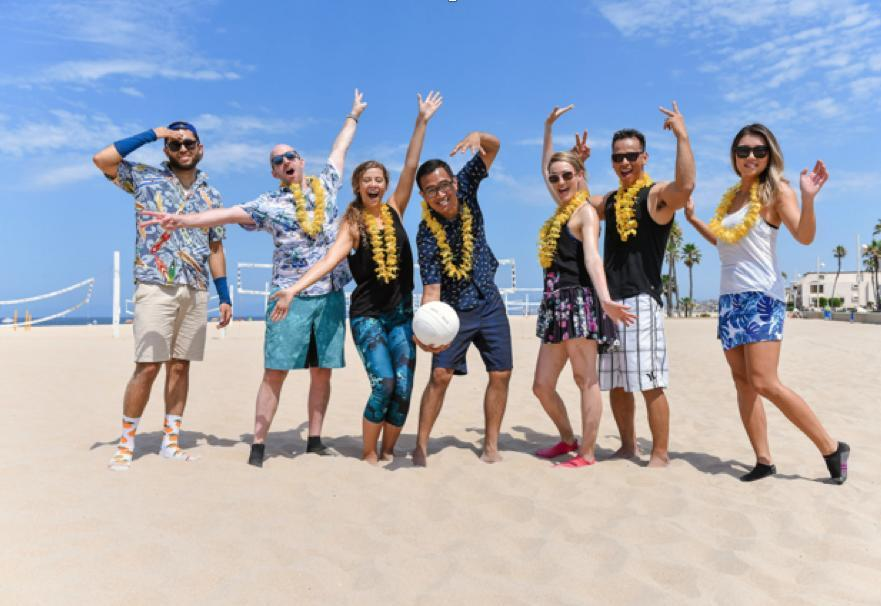 The annual TechStyle volleyball tournament!