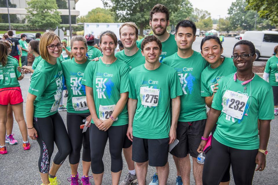 Associates love participating in the annual TakeCare 5K/1K at Marriott headquarters!