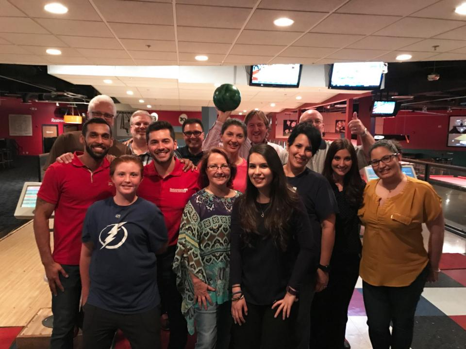 Tampa Branch takes some time to go bowling for Employee Appreciation Day