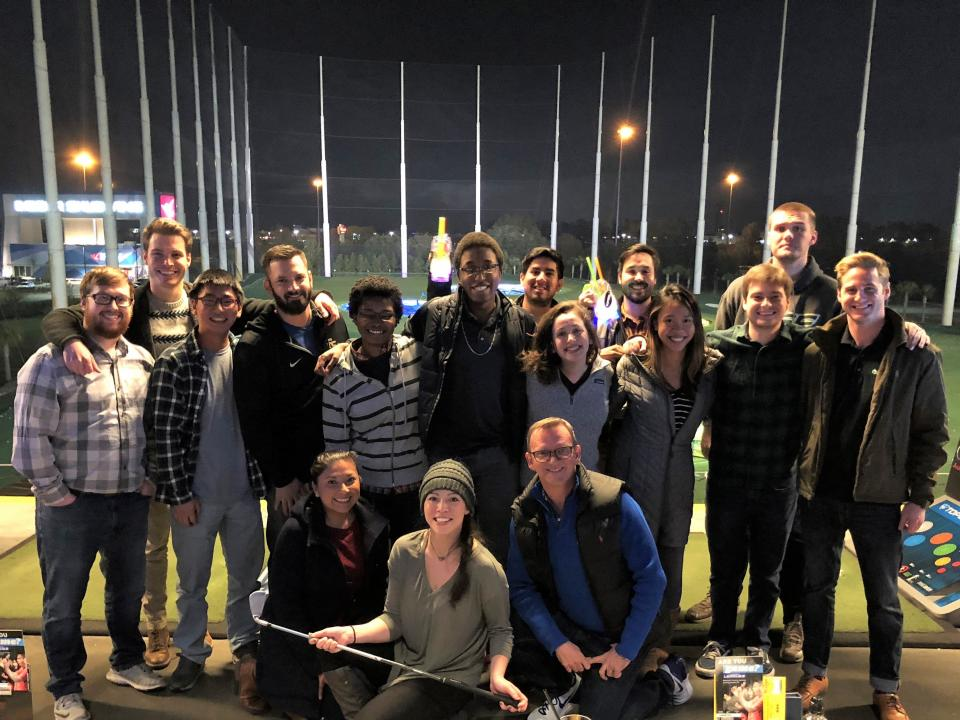 Our Tampa Collabies enjoying an evening event at Top Golf after our Town Hall.