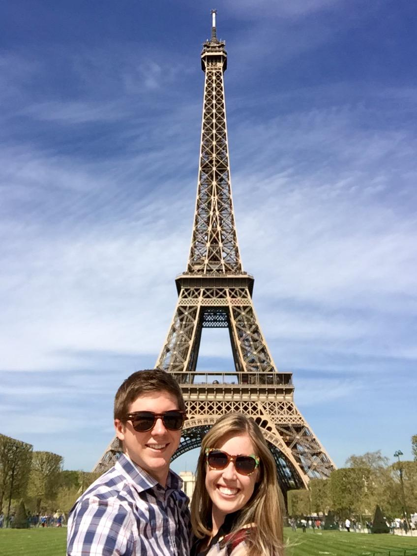Taylor Perkins enjoying her paid-paid vacation in Paris.