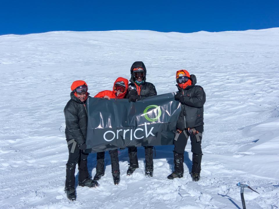 Team Orrick climbed Mount Rainier.