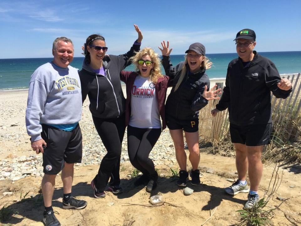 Team Orrick logs hundreds of miles each year, including the 200-mile Ragnar Cape Cod Relay.