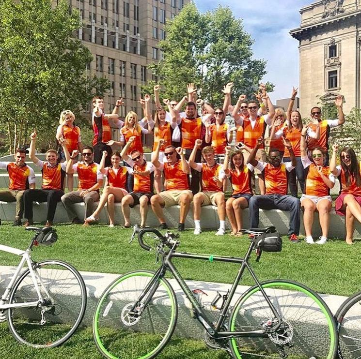 Team PwC in Cleveland rode for cancer research.