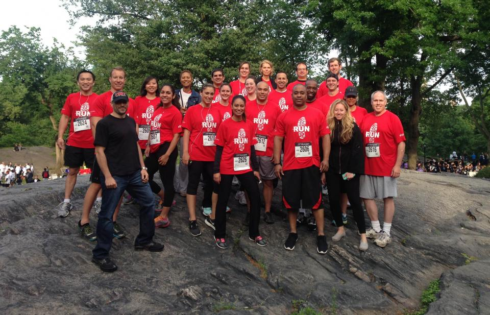 Group Photo of the Align team at the JP Morgan Corporate Challenge