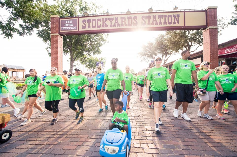 Texas Health employees support the community in many ways, including through the annual American Heart Association Heart Walk.