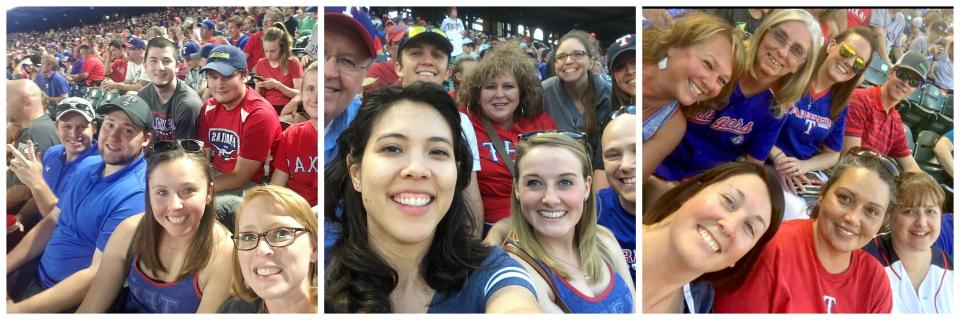 We always have a great time cheering for the Texas Rangers!