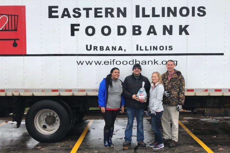 Thanksgiving donation to local food bank