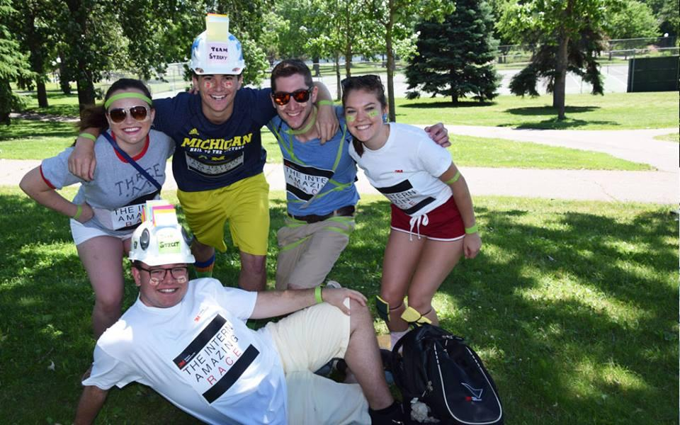 "This summer's class of interns kicked off their time in the Twin Cities with ""The Intern Twin Cities Amazing Race,"" a fun race around the Twin Cities that immersed them in local culture, landmarks and ice cream, along with plenty of good-natured competition."