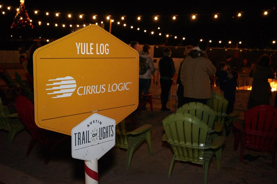 The Yule Log, sponsored by Cirrus Logic, is an Austin tradition at the holiday festival Trail of Lights.