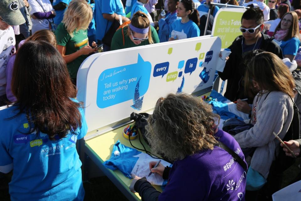 Decorating T-Shirts at I Walk Because 2016