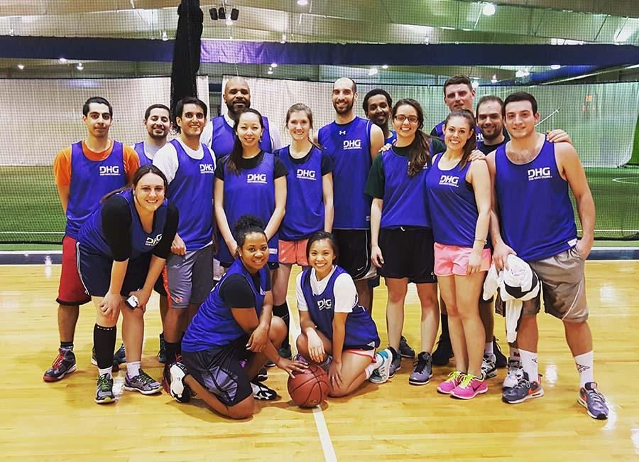 DHG's Life Beyond Numbers! Team members enjoying blowing off steam together in competitive intramural sports!