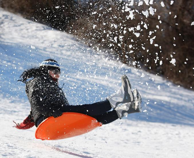 Accounts Payable & Expense Specialist Kim Croce Enjoys Sledding
