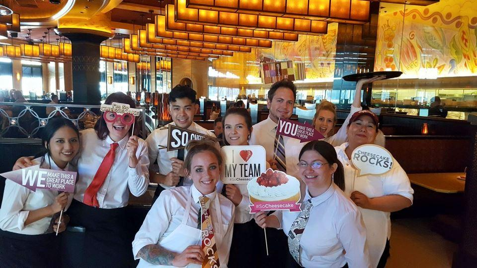 "Our teammates love to show their pride in being ""So Cheesecake!"""