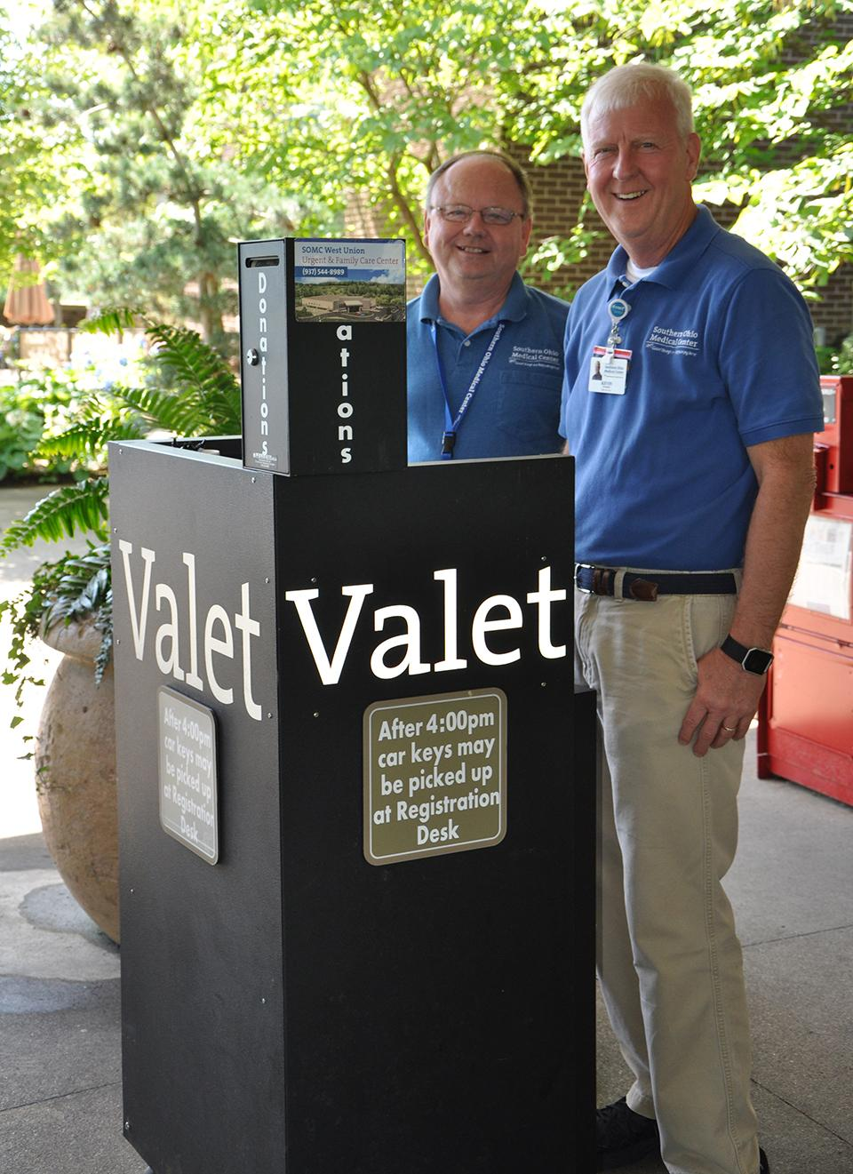 Welcome to SOMC, these guys offer a smile, and free Valet service to our patients.