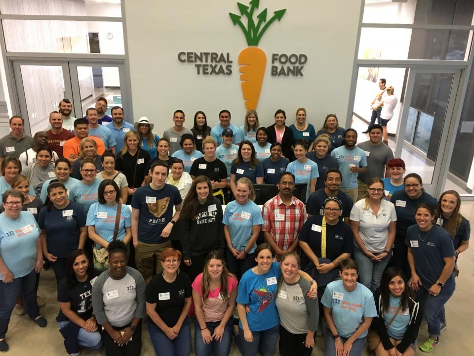 ACC Employees Volunteer at the Central Texas Food Bank