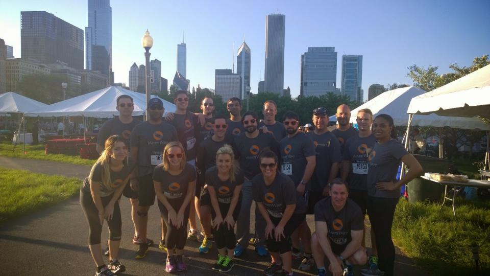 Mavens ready to run for the Chase Corporate Challenge!