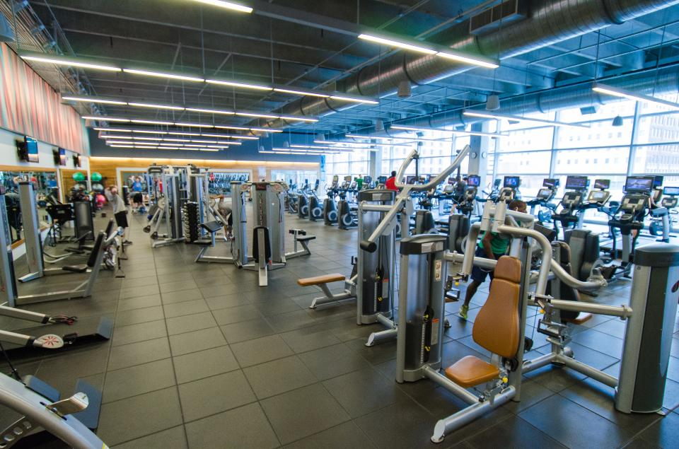 Devon's onsite wellness center in Oklahoma City is free for employees who work out at least five times per month. Field employees also are reimbursed for wellness center memberships.