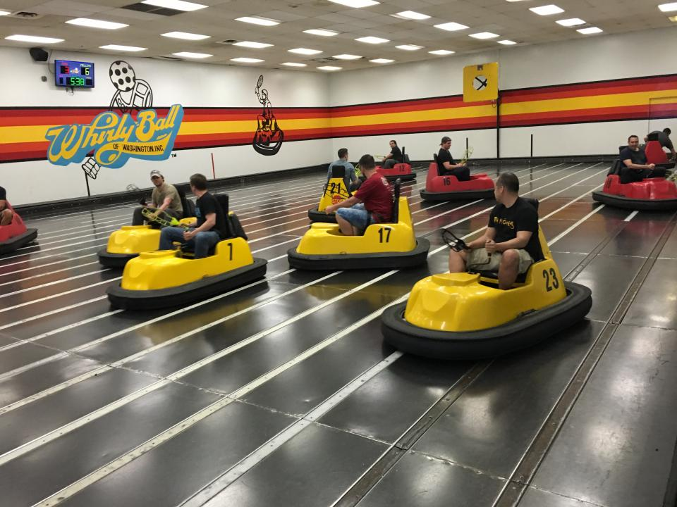 Bellevue Office Playing Whirly Ball