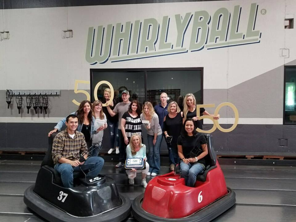 The Illinois Division enjoys food, fun, and Whirly Ball