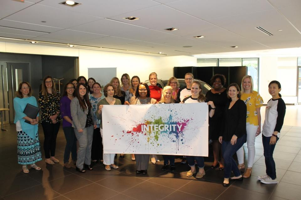 Our Professional Audi Ladies in partnership with Women in Motion celebrating company-wide 2018 Integrity day.