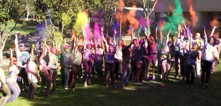One of our Belonging Councils hosted a Holi celebration, with Bollywood music and colorful powder thrown in the air.