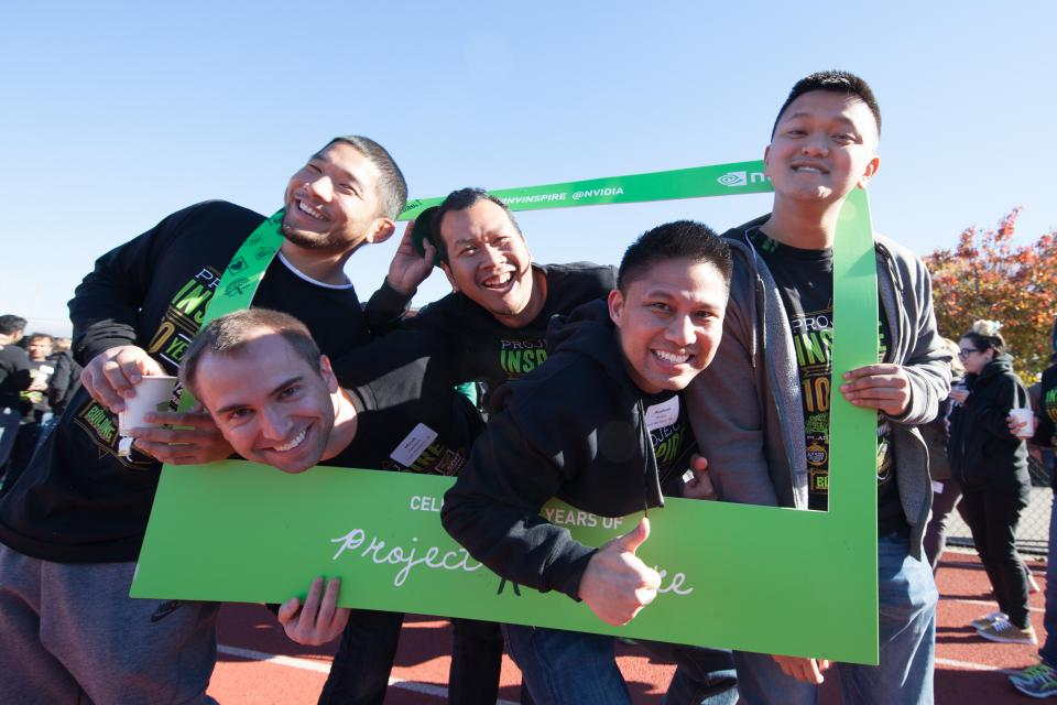 Teams come together for NVIDIA's annual Project Inspire volunteer event, our holiday party with a purpose.