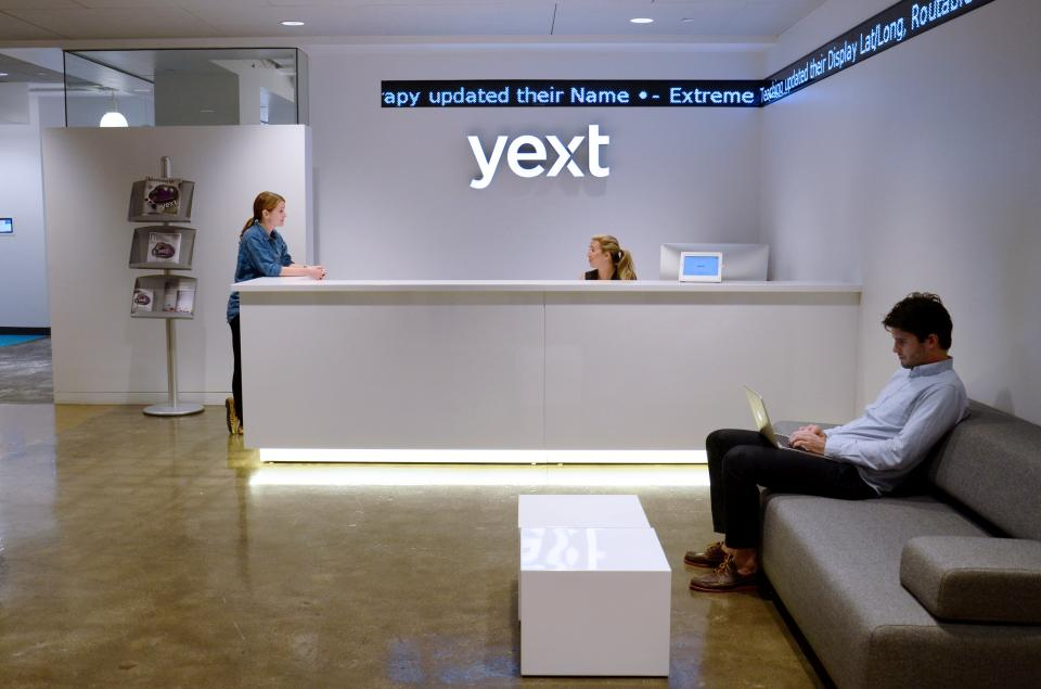 Reception Area at Yext HQ in Flatiron, NYC