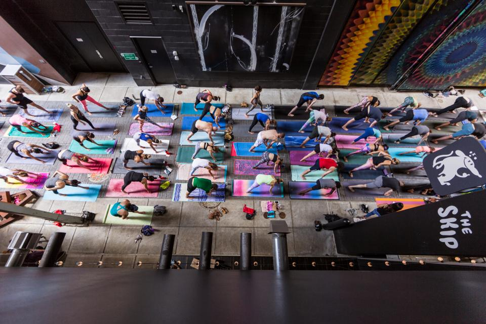 Yoga sessions are commonplace at Quicken Loans