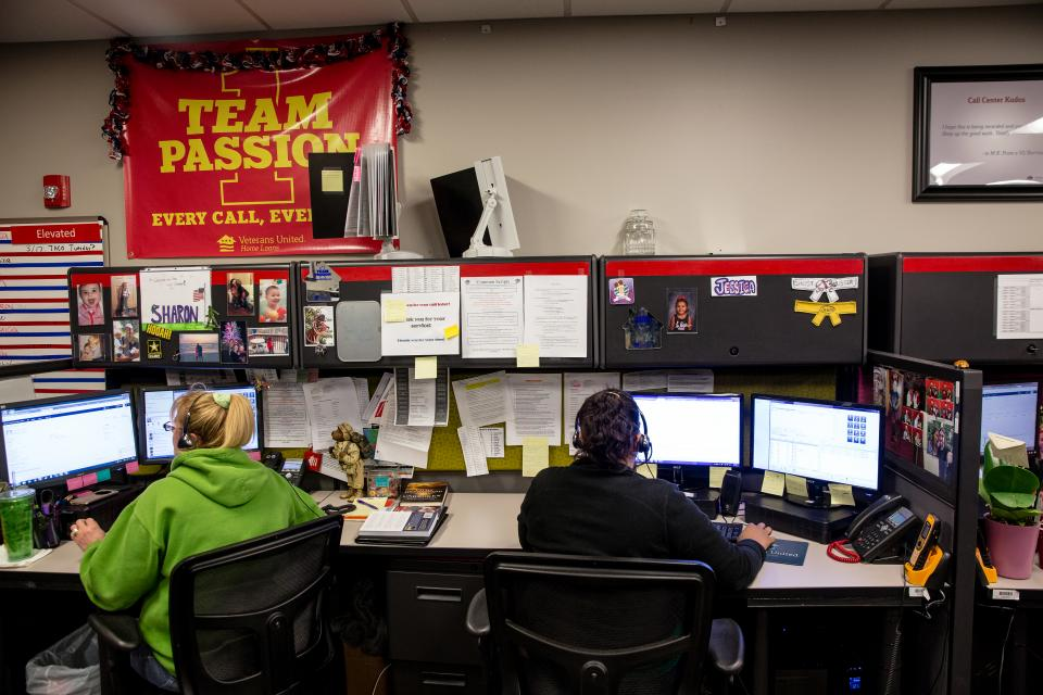Employees in our call center answer phone calls 24 hours a day, 7 days a week.