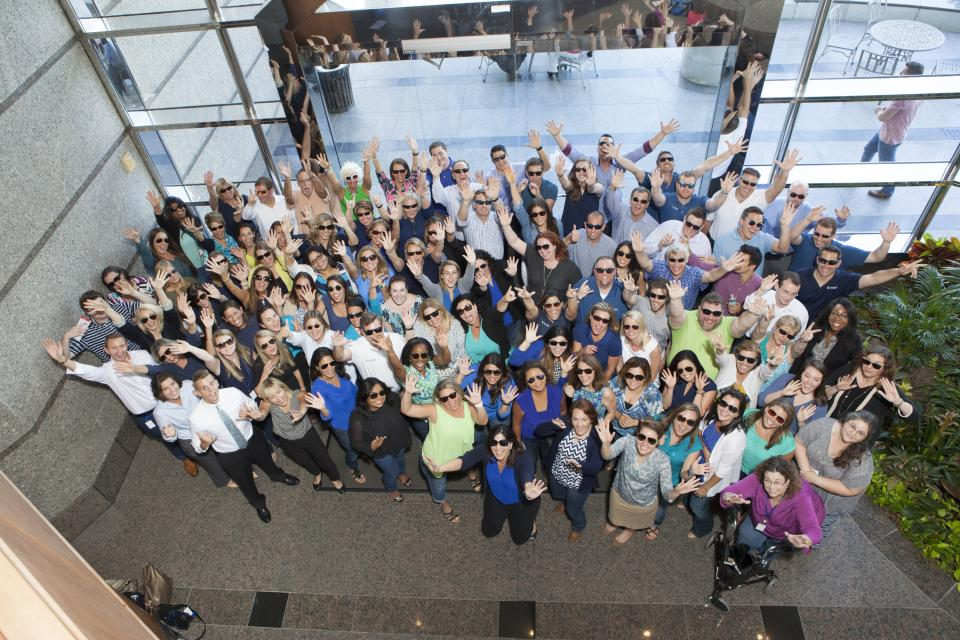 BKS colleagues gather for a group photo during a quarterly firm meeting