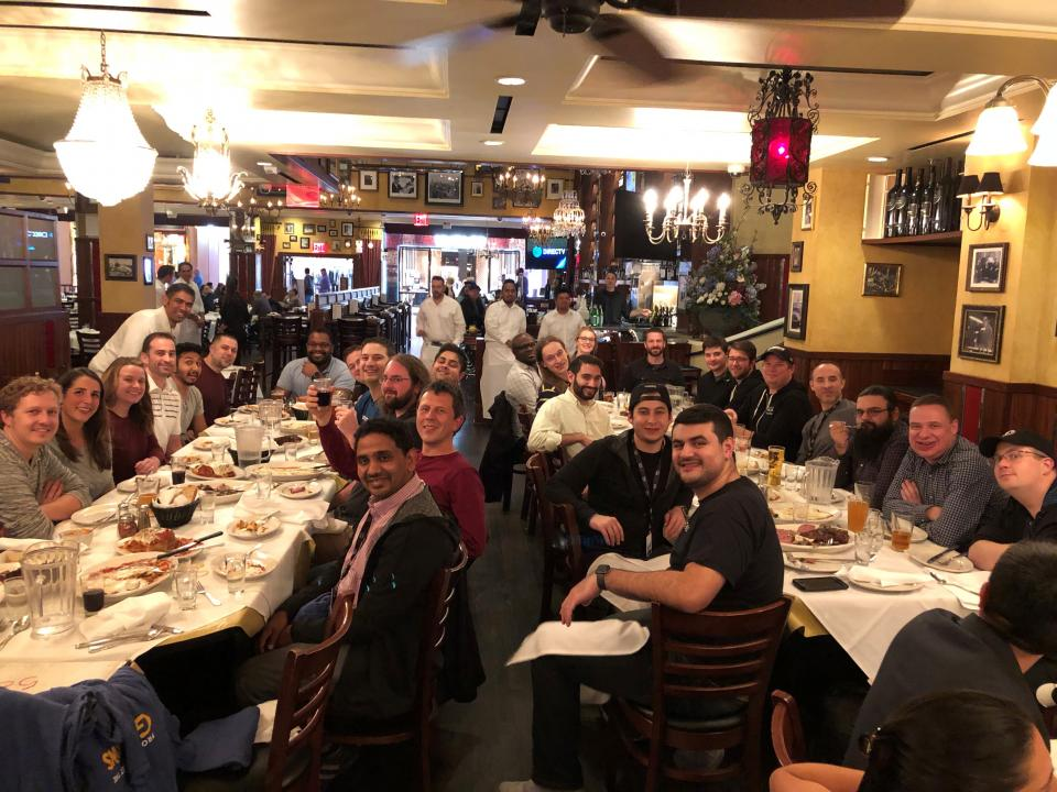 Some of our engineering folks at AWS re:Invent.