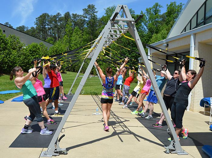 Among employees at SAS' Cary headquarters, 96 percent use the Recreation & Fitness Center.