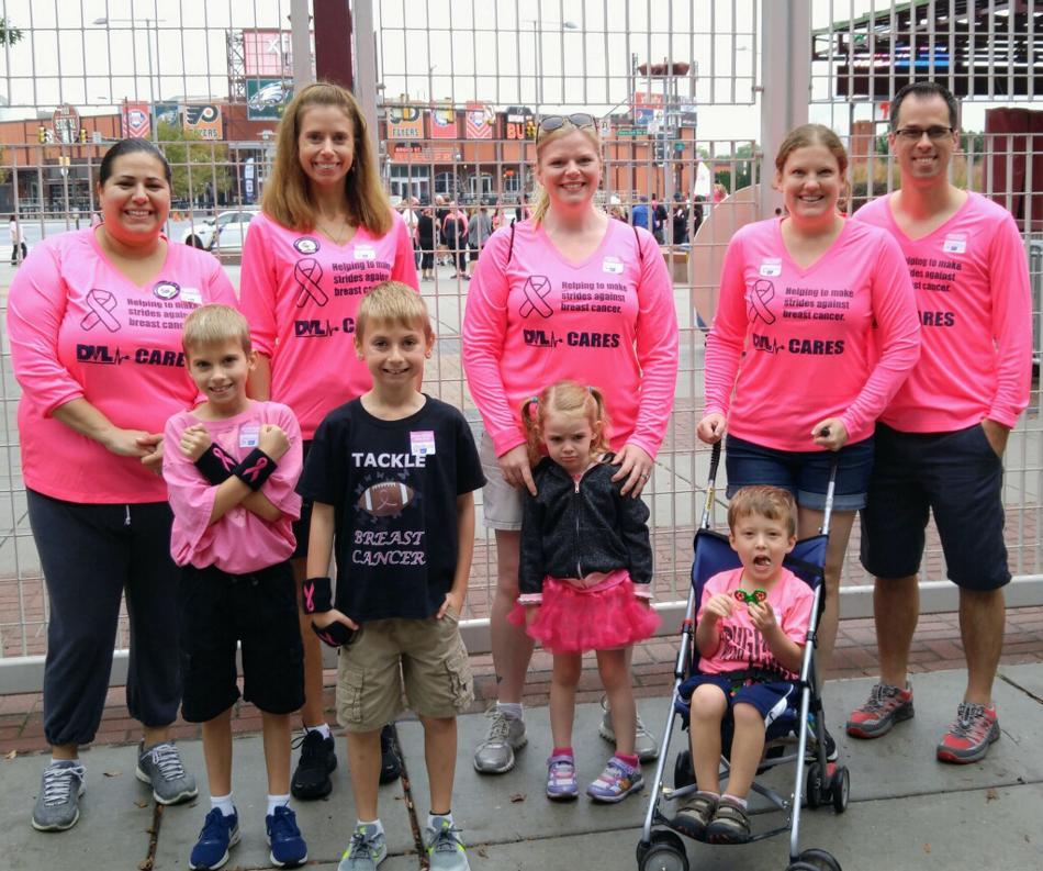 DVL's Making Strides Against Breast Cancer Team