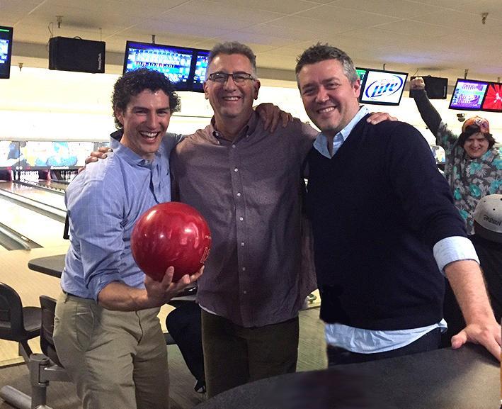 Farnsworth Group employees enjoying a few games of bowling!