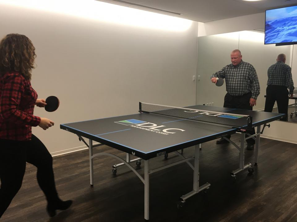 Ping Pong match in our multi-purpose room!