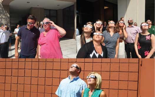 DLC Bethesda, Elmsford and Buffalo checking out the solar eclipse!